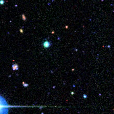 sim of Einsten cross made of blue quasars