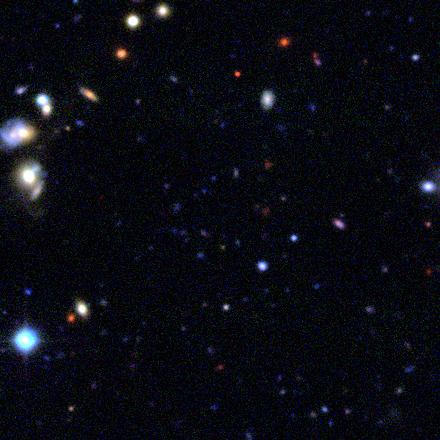 blue ring near galaxy