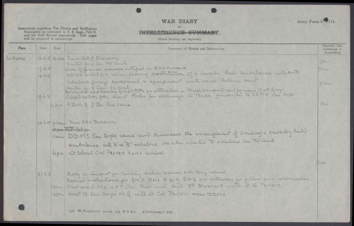 Operation War Diary Talk