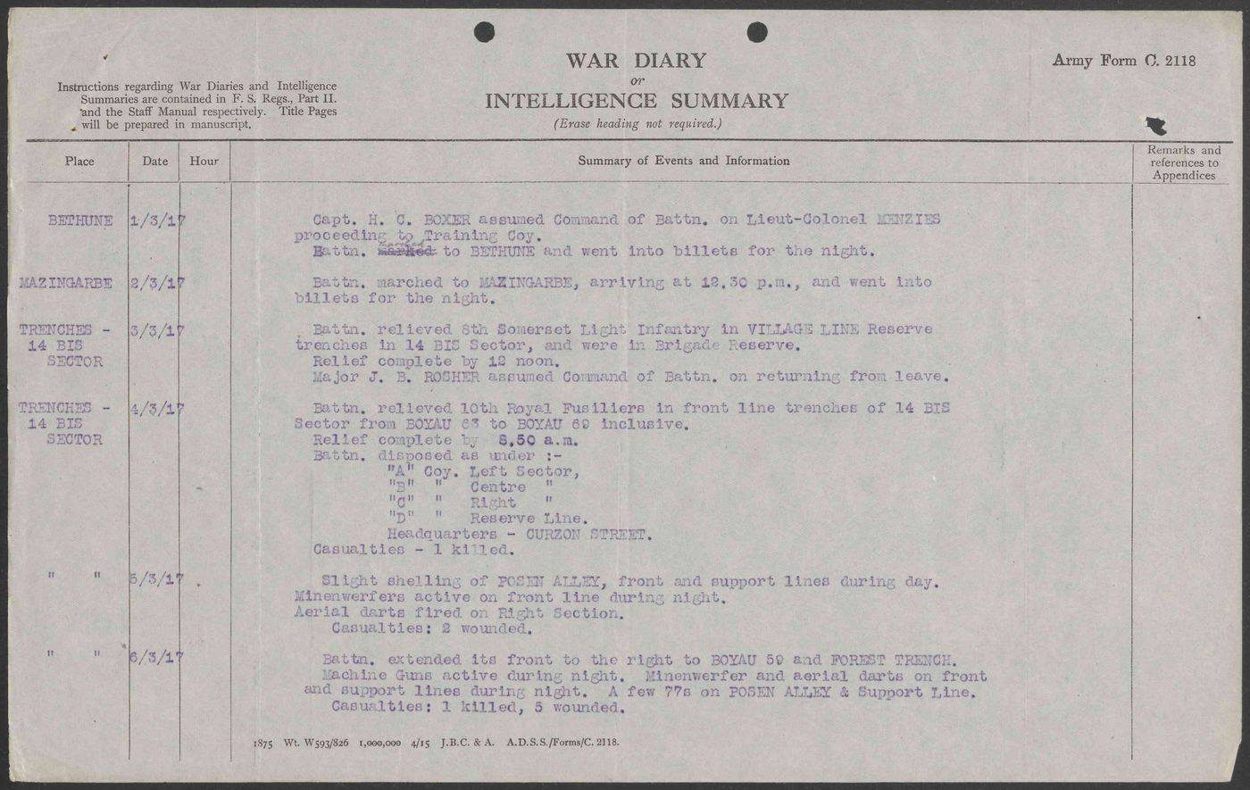 Operation war diary talk falaconquin